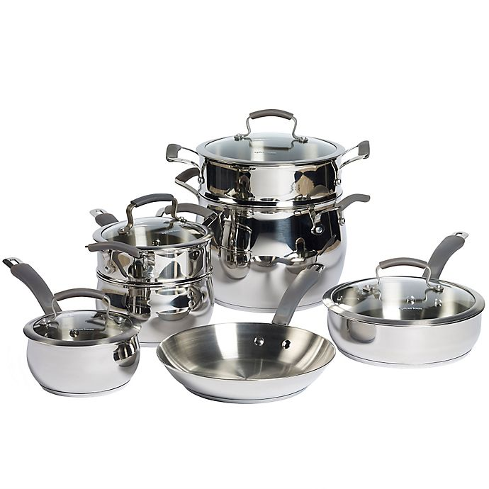 Alternate image 1 for Epicurious Stainless Steel 11-Piece Cookware Set
