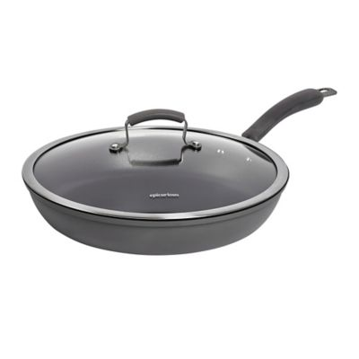 Epicurious Hard Anodized Nonstick 13 Inch Covered Fry Pan