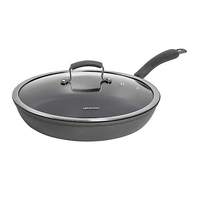 Alternate image 1 for Epicurious Hard Anodized Nonstick 13-Inch Covered Fry Pan