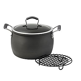 Epicurious Hard Anodized Nonstick 8 qt. Covered Dutch Oven with Meat Rack