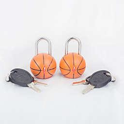 Safe Skies® TSA Basketball Luggage Locks (Set of2)