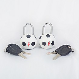 Safe Skies® TSA Soccer Luggage Locks (Set of2)