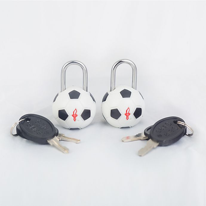 Alternate image 1 for Safe Skies® TSA Soccer Luggage Locks (Set of2)