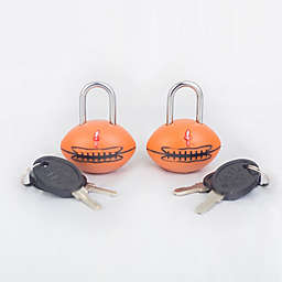 Safe Skies® TSA Football Luggage Locks (Set of2)