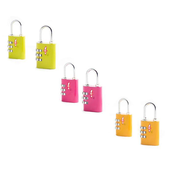 Alternate image 1 for Safe Skies® 3-Dial TSA-Recognized Lock (Set of 2)