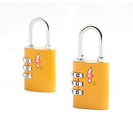 Safe Skies® 3-Dial TSA-Accepted Lock in Yellow (Set of 2)