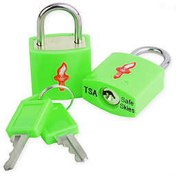 Safe Skies® TSA-Recognized Keyed Padlock (Set of 2)