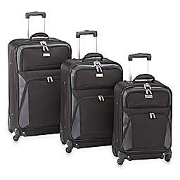 Geoffrey Beene Brentwood Collection 3-Piece Expandable Spinner Suitcase Set in Black