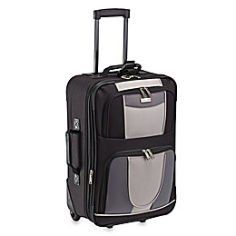 Geoffrey Beene 21-Inch Expandable Carry-On Suitcase in Black/Grey