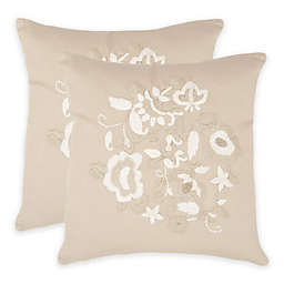 Safavieh April Throw Pillow in Beige