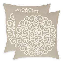 Safavieh Joanna Throw Pillow in Beige (Set of 2)