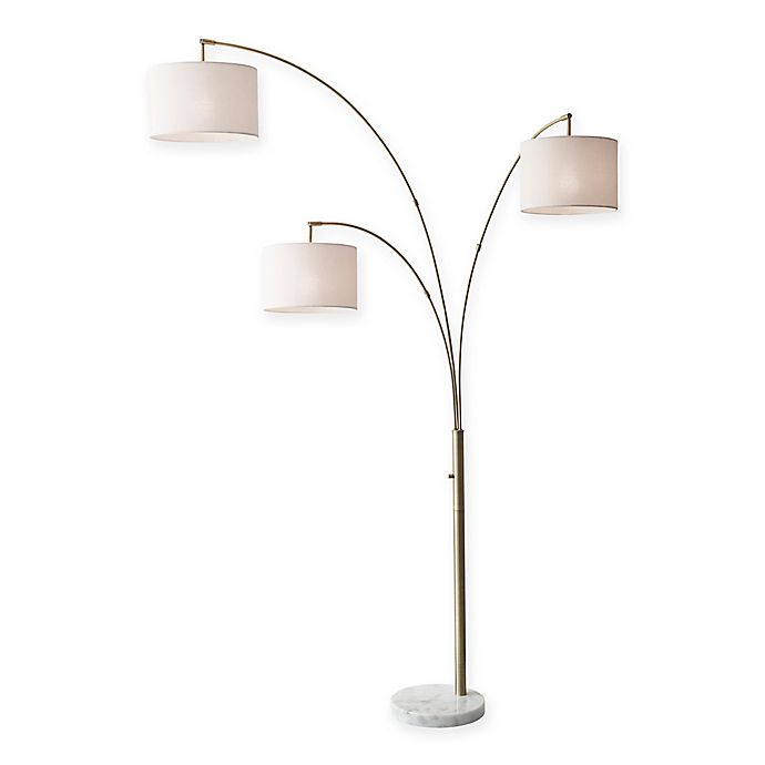 Adesso Bowery 3 Arm Arc Floor Lamp Bed Bath And Beyond