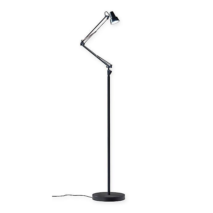 Alternate image 1 for Adesso® Quest LED Floor Lamp in Black