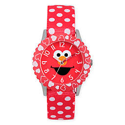 Sesame Street® Elmo Children's Hearts Time Teacher Watch in Red Plastic w/Red Nylon Strap