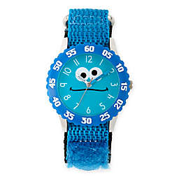 Sesame Street® Cookie Monster Children's Silly Blue Time Teacher Watch in Plastic w/Nylon Strap