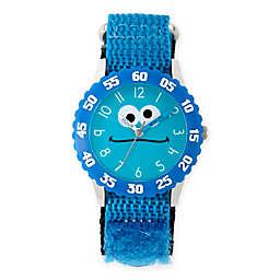 Sesame Street® Cookie Monster Children's Silly Blue Time Teacher Watch in Plastic w/Nylon Strap