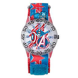 Marvel® Avengers Children's Captain America Shields Time Teacher Watch in Plastic w/Nylon Strap