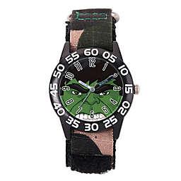 Marvel® Avengers Children's The Hulk Time Teacher Watch in Black Plastic w/Camo Nylon Strap