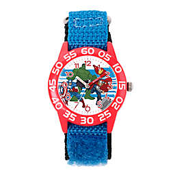 Marvel® Avengers Children's Team Time Teacher Watch in Red Plastic w/Blue Nylon Strap