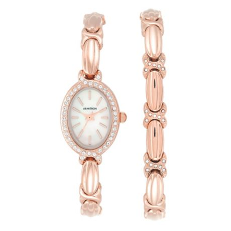 186b5b8266e Find armitron® crystal accent mother pearl watch bracelet rose goldtone  stainless steel b . Shop every store on the internet via PricePi.com