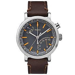 Timex® Metropolitan+ Watch with Dark Brown Leather Strap