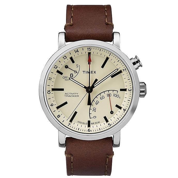 Timex 174 Metropolitan Watch With Brown Leather Strap Bed