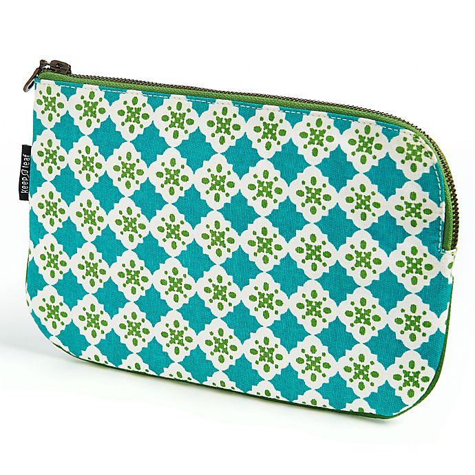 Alternate image 1 for Keep Leaf Flat Cosmetic Bag in Tiles Print
