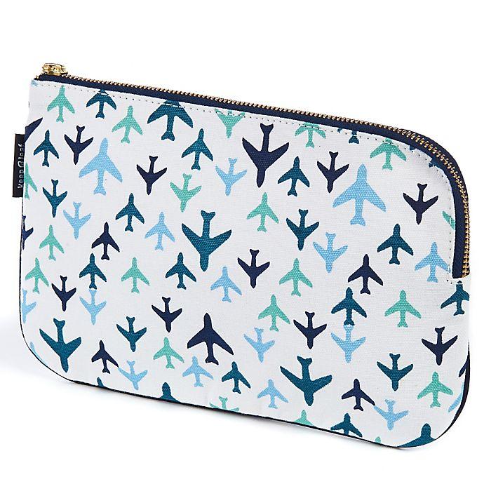 Alternate image 1 for Keep Leaf Flat Cosmetic Bag in Planes Print