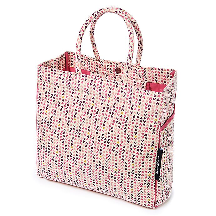 Alternate image 1 for Carry-All Canvas Tote/Beach Bag in Hearts Print