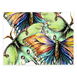 Pastel Butterflies 40-Inch x 30-Inch All-Weather Outdoor Canvas Wall Art