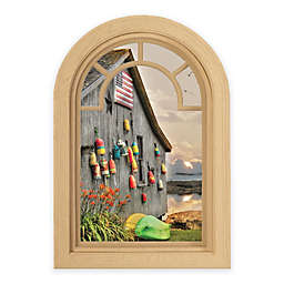 Contour Art Elements Boathouse 20-Inch x 30-Inch Peel & Stick Wall Decal