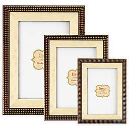 Eccolo™ Gold Onlay Houndstooth Picture Frame in Brown