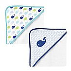 BabyVision® Luvable Friends® 2-Pack Whale Hooded Towel in Blue