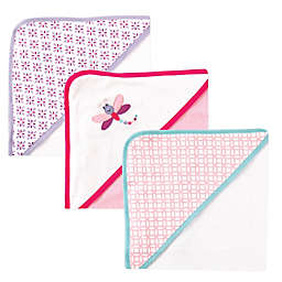 BabyVision® Luvable Friends® 3-Pack Dragonfly Hooded Towel in Pink