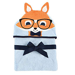 BabyVision® Luvable Friends® Nerd Fox Hooded Towel in Blue