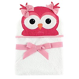 Baby Vision® Hudson Baby® Owl Hooded Towel in White