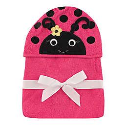 Baby Vision® Hudson Baby® Ladybug Hooded Towel in Pink