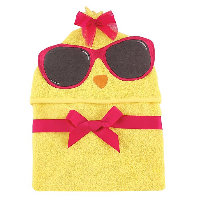 Alternate image 1 for Baby Vision® Hudson Baby® Chicken Hooded Towel in Yellow