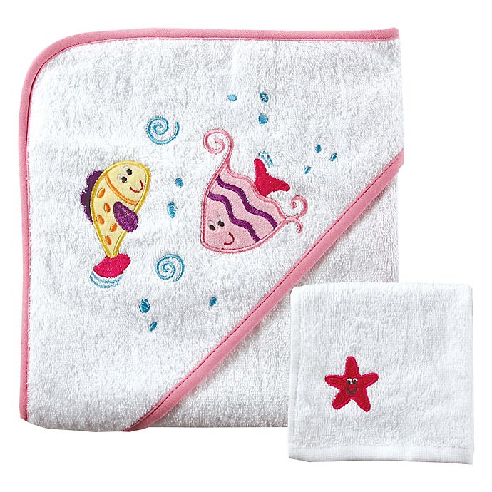 Babyvision 174 Luvable Friends 174 Fishes Hooded Towel And