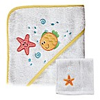 BabyVision® Luvable Friends® Starfish Hooded Towel and Washcloth Set in Yellow