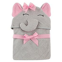 Baby Vision® Hudson Baby® Elephant Hooded Towel in Grey