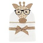 Baby Vision® Hudson Baby® Nerdy Giraffe Hooded Towel