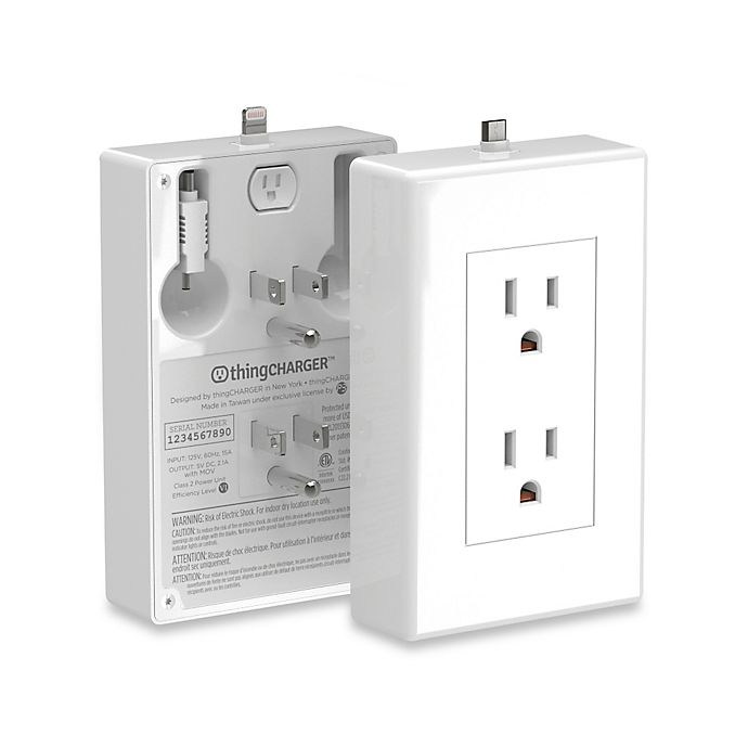 Alternate image 1 for thingCHARGER® Outlet Device Charger in White