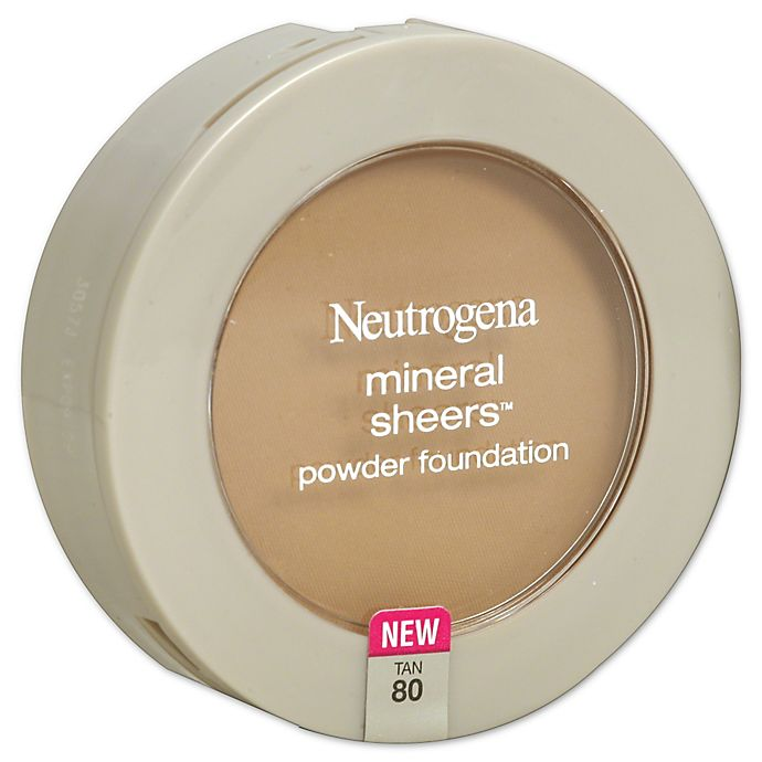 Alternate image 1 for Neutrogena® Mineral Sheers® .34 oz. Compact Powder Foundation SPF 20 in Tan 80