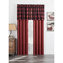 Mesa Window Curtain Panel Pair in Red