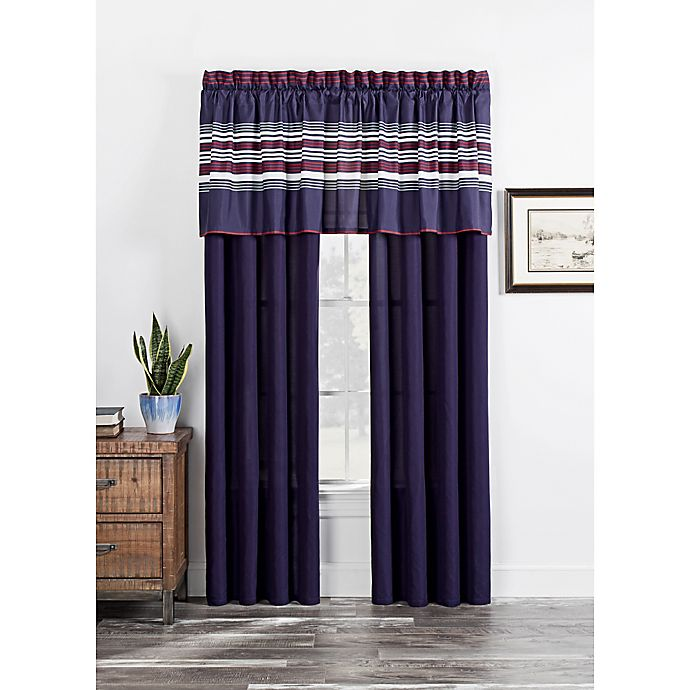 Alternate image 1 for Acadia Window Curtain Panel Pair in Navy