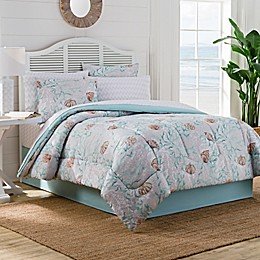Muriel Comforter Set in Aqua/Grey