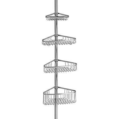 iDesign® York Tension Corner Shower Caddy