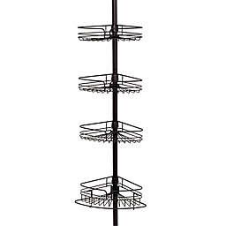 Zenna Home® Tension Corner Pole Shower Caddy in Bronze