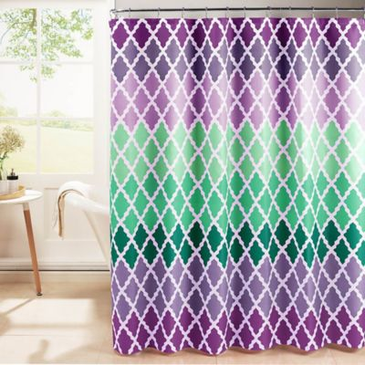 Gateway Lattice Shower Curtain With Rings